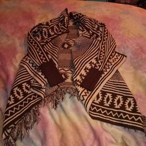 XS Maurices Brown Aztec Southwestern Cardigan